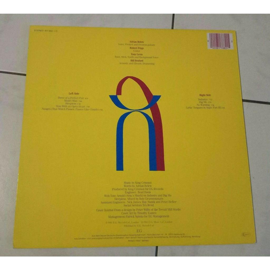 King Crimson Three Of A Perfect Pair