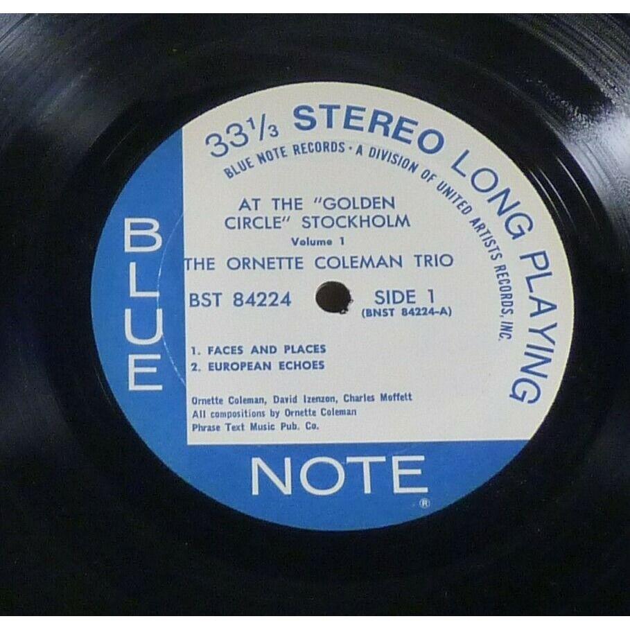 Ornette Coleman Trio David Izenzon Charles Moffett The Ornette Coleman Trio - At The Golden Circle Stockholm - Volume One