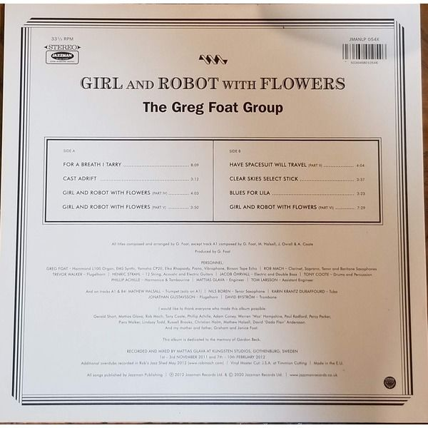The Greg Foat Group Girl And Robot With Flowers