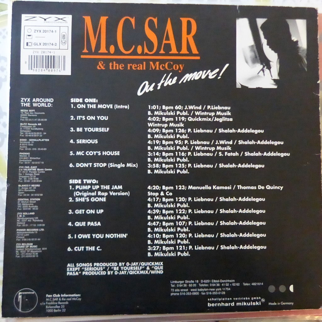 M.C. SAR AND THE REAL McCOY ON THE MOVE