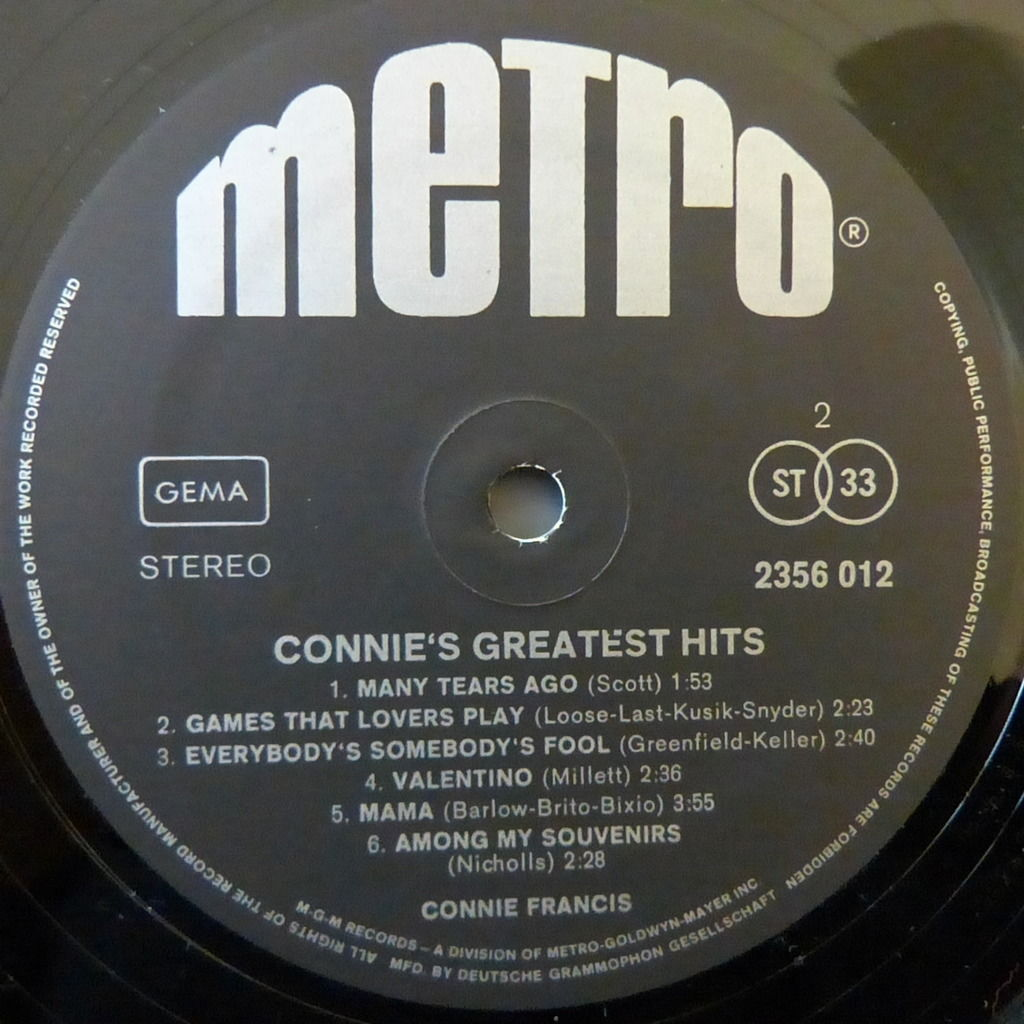 CONNIE FRANCIS THE BEST OF