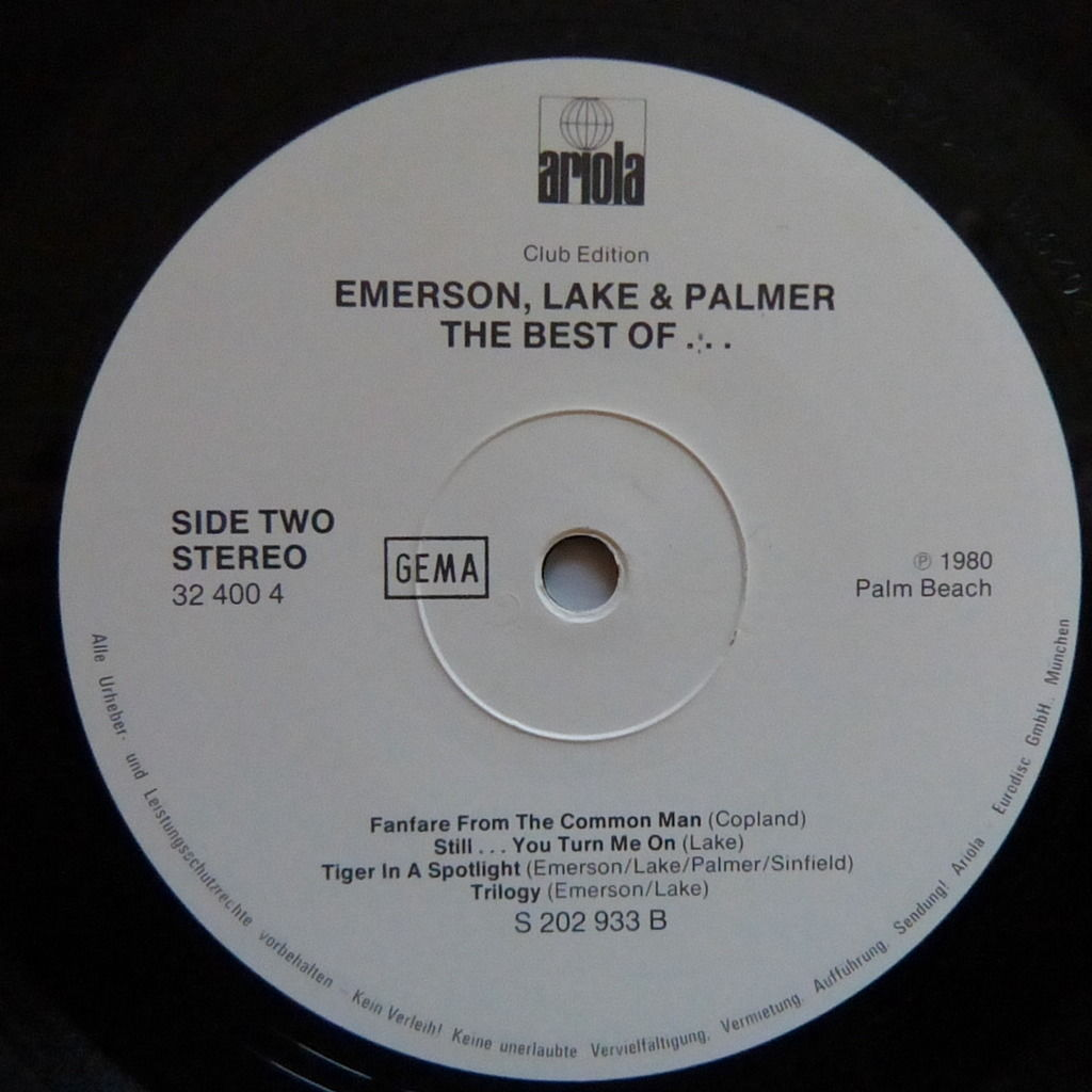 EMERSON LAKE AND PALMER the best of
