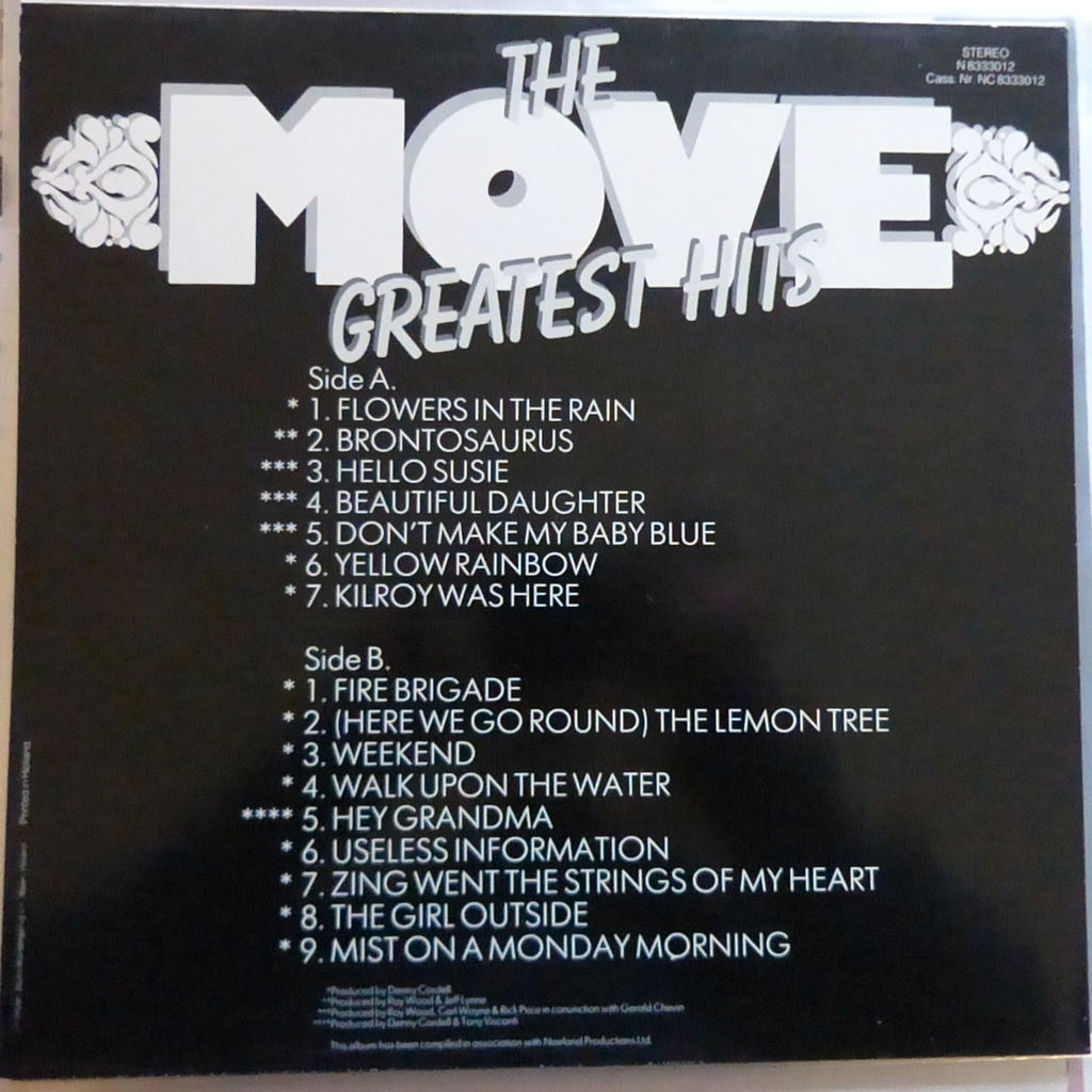 THE MOVE GREATEST HITS