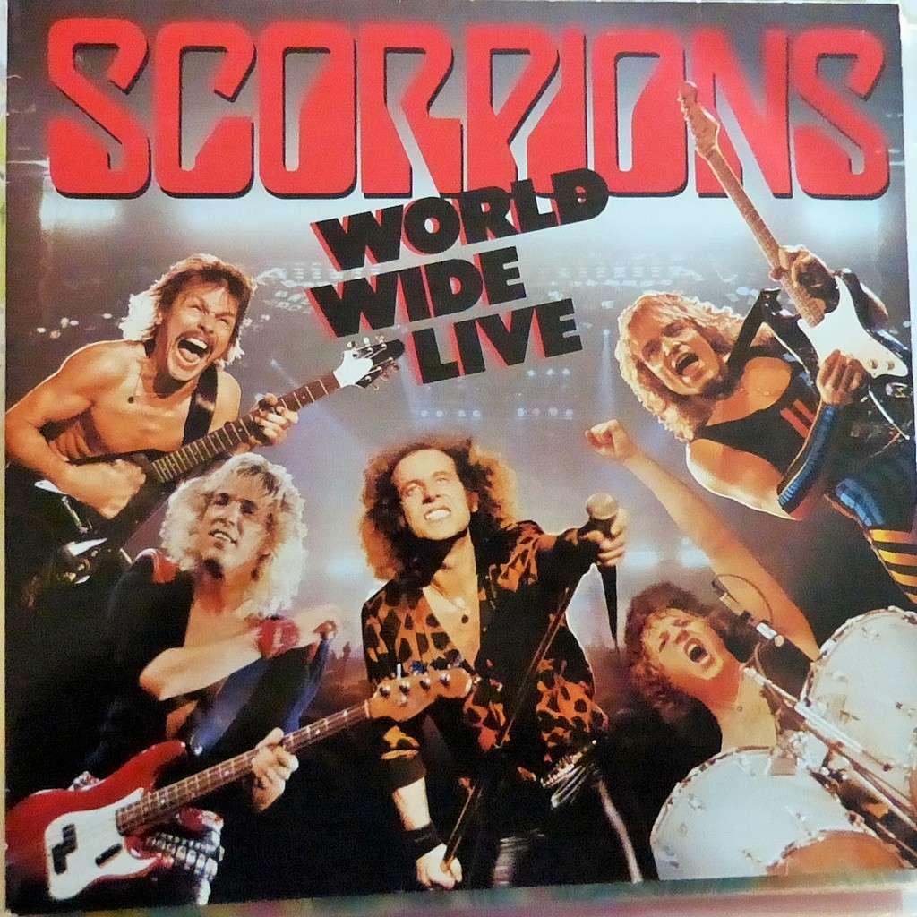 SCORPIONS WORLD WIDE LIVE + POSTER