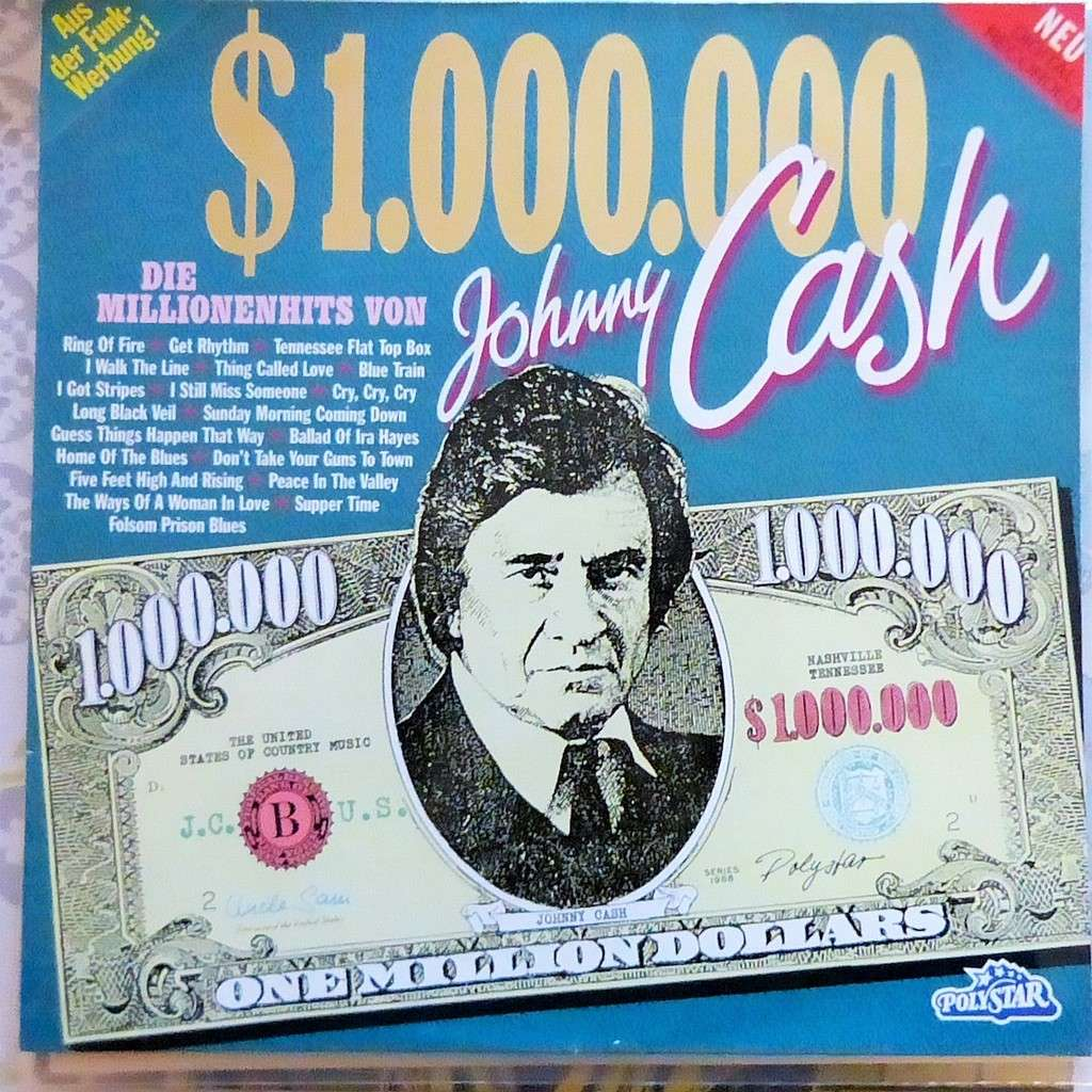 JOHNNY CASH one million dollars cash