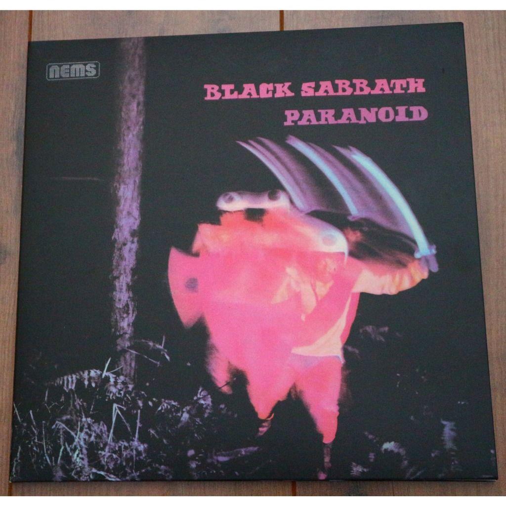 Black Sabbath Paranoid / W. Policeman frontcover ; gatefold sleeve