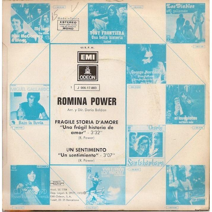 Romina Power Fragile soria d'amore/Un sentimento