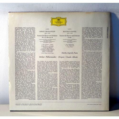 MARTHA ARGERICH & CLAUDIO ABBADO PROKOFIEFF & RAVEL Klavierkonzert
