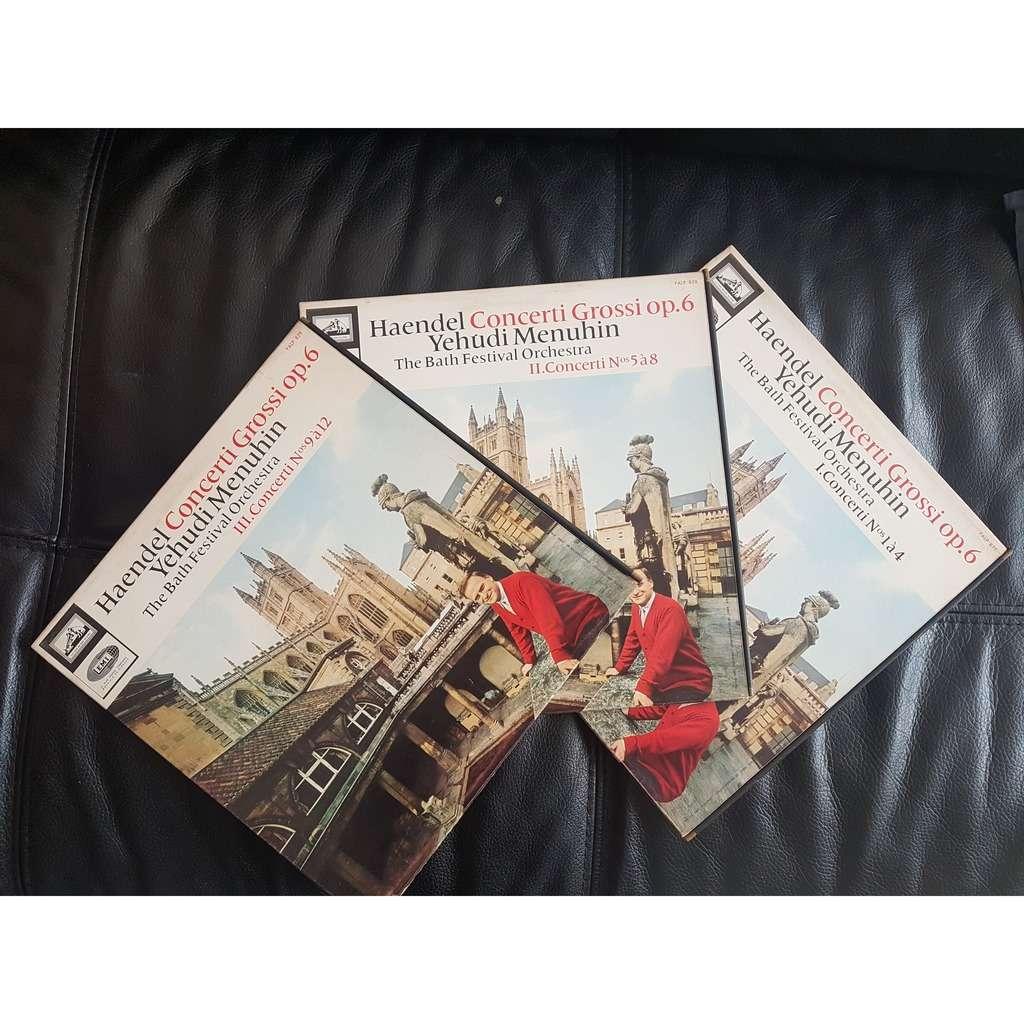 Yehudi menuhin & haendel lot 3 disques: concerti 1 à 4, concerti 5 à 8, concerti,9 à 12