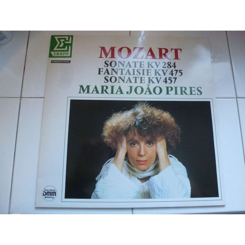 MARIA JOAO PIRES Mozart : Sonates KV284 & KV457. Fantaisie KV475 - ( stéréo digital mint condition )