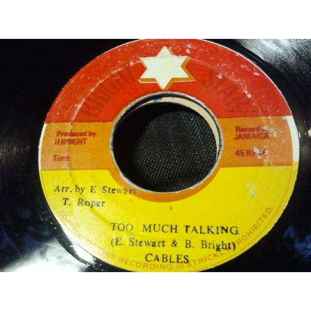 CABLES / CHALICE TOO MUCH TALKING / TOO MUCH DUB ORIG