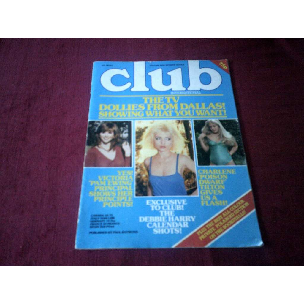 debbie harry MAGAZINE CLUB VOLUME 9 N° 11 CALENDAR SHOTS