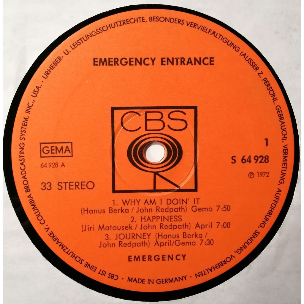 Emergency Emergency Entrance (prog)