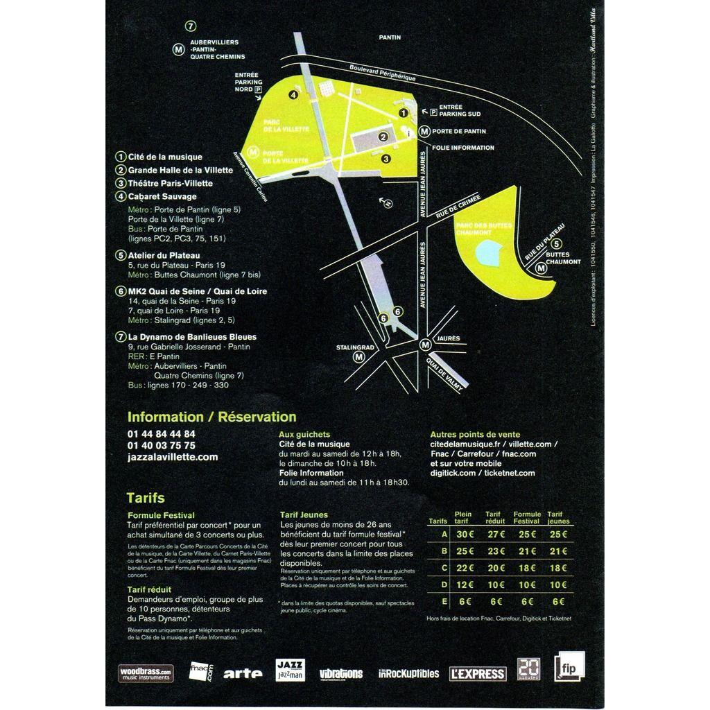 archie shepp, kenny barron, trombone shorty... programme festival jazz à la villette 29 août au 8 septembre 2012