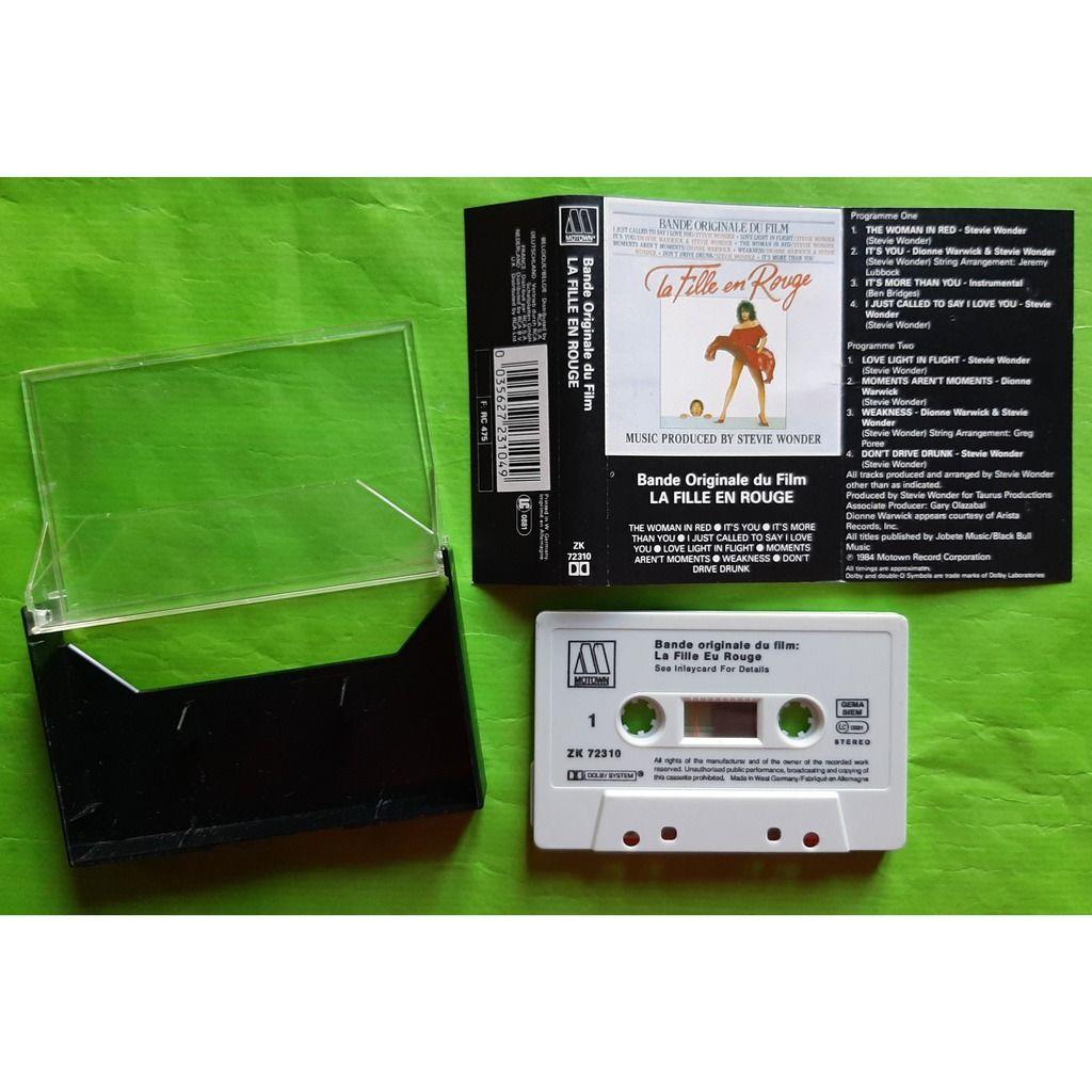STEVIE WONDER LA FILLE EN ROUGE-(Album cassette audio)(Bande original film)(1984)(Germany)