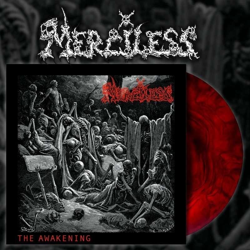 MERCILESS The Awakening. Red Galaxy Vinyl