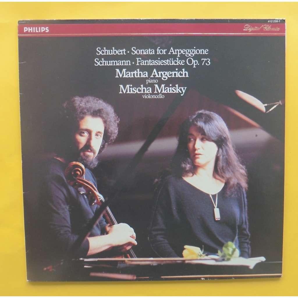 MARTHA ARGERICH / MISCHA MAISKY SONATA FOR ARPEGGIONE / FANTASIESTUCKE OP.73