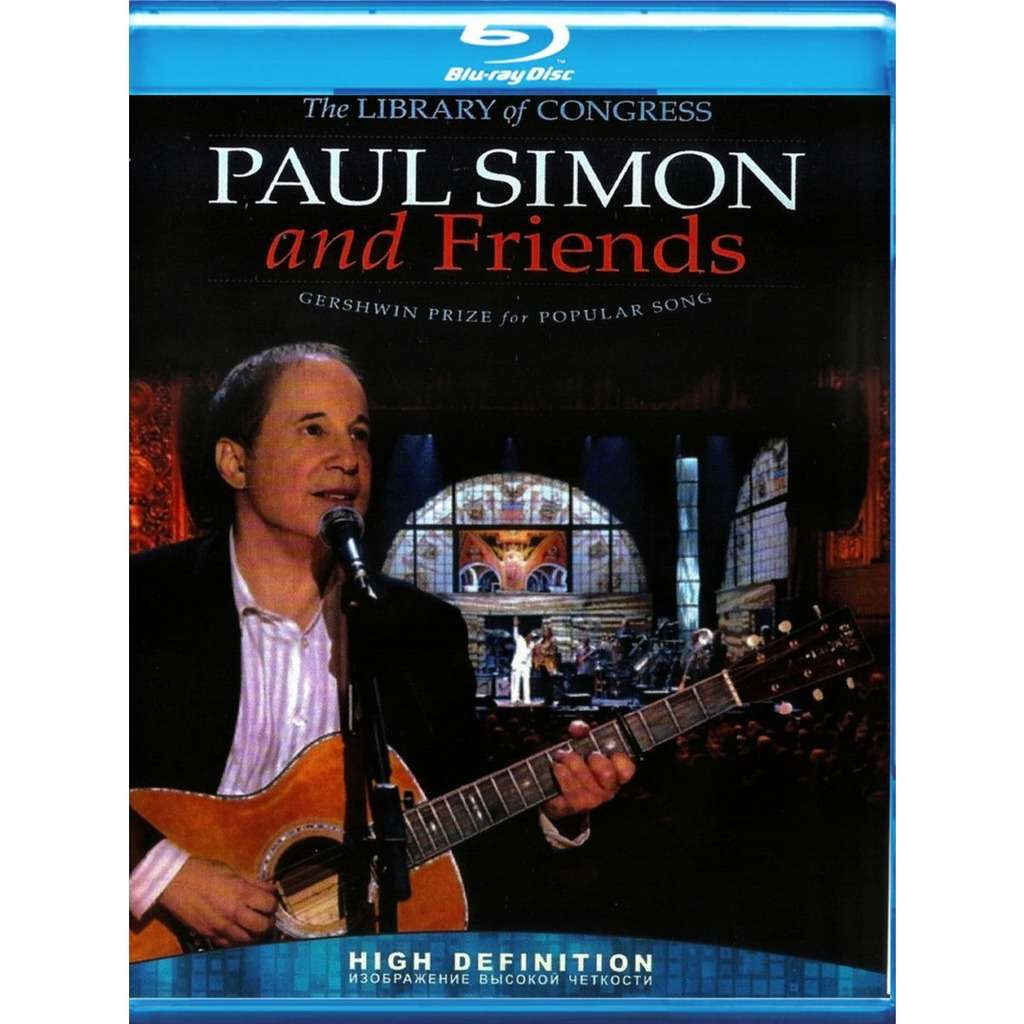Paul Simon And Friends The Library Of Congress Gershwin Prize For Popular Song Blu-Ray Worldwide Free Shipping