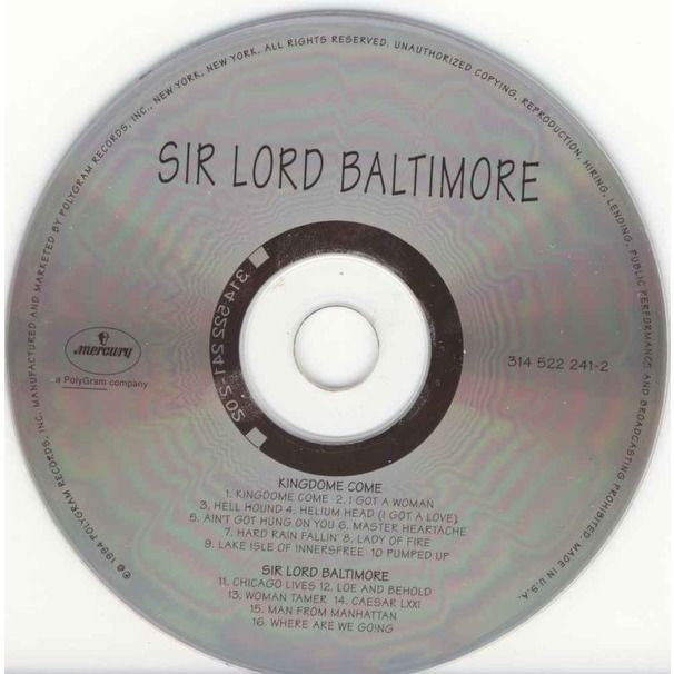 Sir Lord Baltimore Kingdom Come / Sir Lord Baltimore