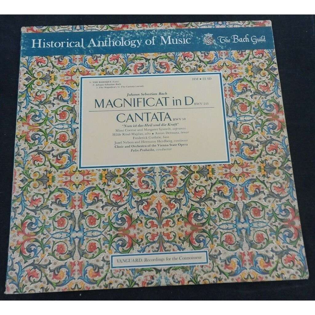 PROHASKA BACH Magnificat in D / Cantata BWV 50