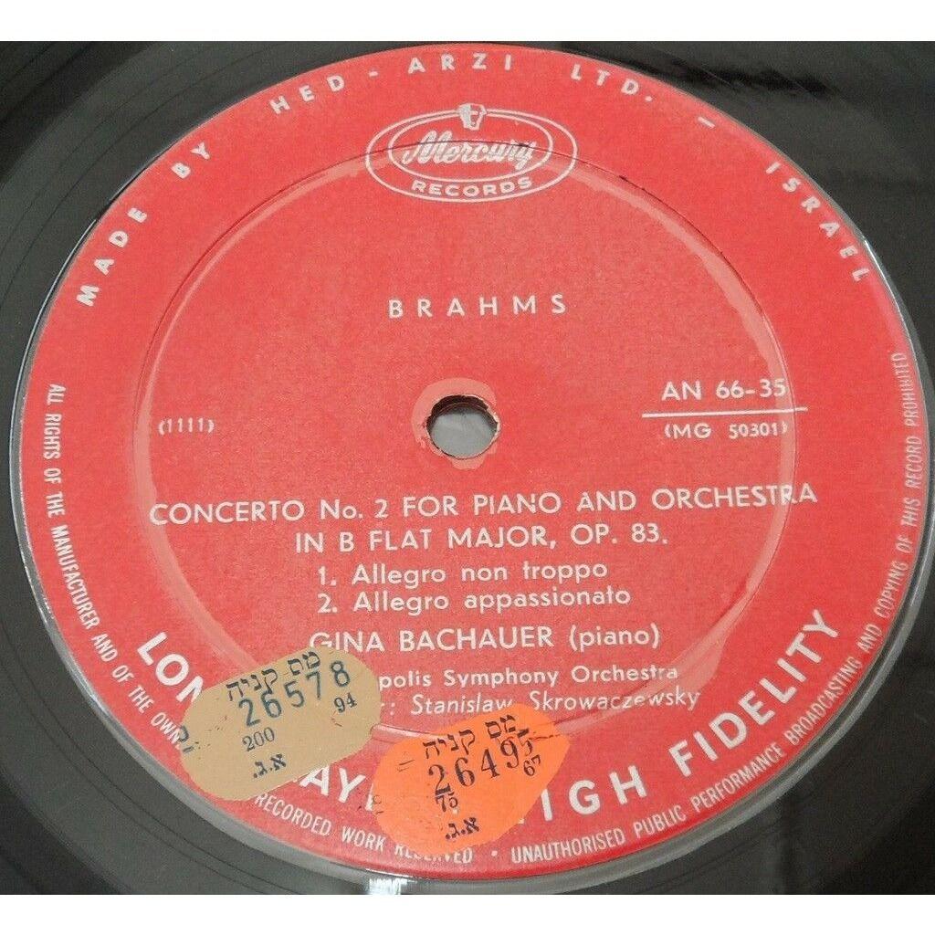 Bachauer - Skrowaczewski Brahms Piano Concerto