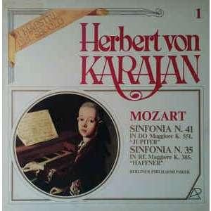 herbert von karajan mozart: sinfonia no 41 & no 35