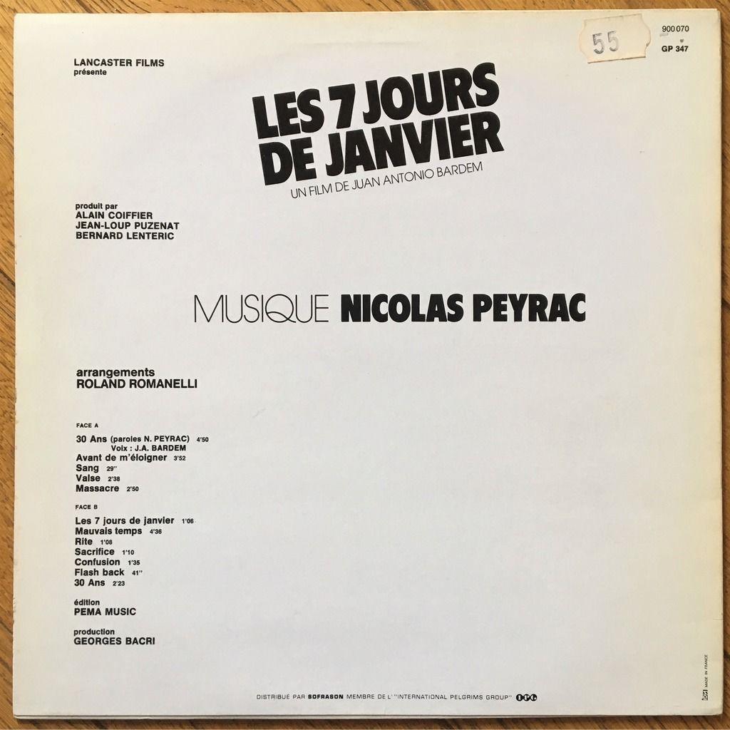 Nicolas Peyrac Les 7 Jours De Janvier