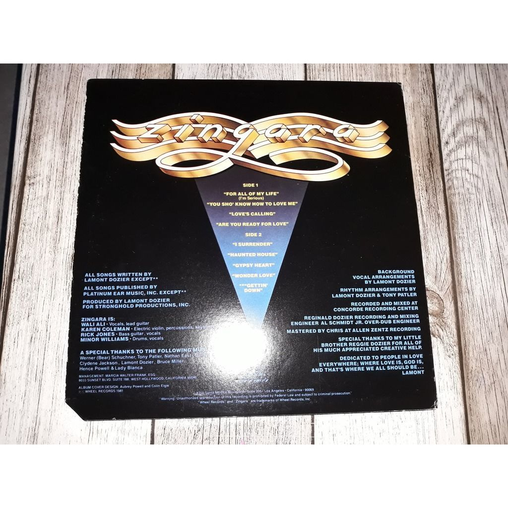 Zingara - Zingara (LP, Album) Zingara - Zingara (LP, Album)