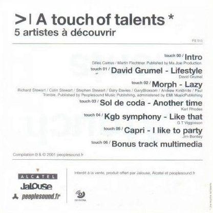 Gilles Camus-Martin Flechtner, David Grumel, Morph A Touch Of Talents - 5 Artistes À Découvrir
