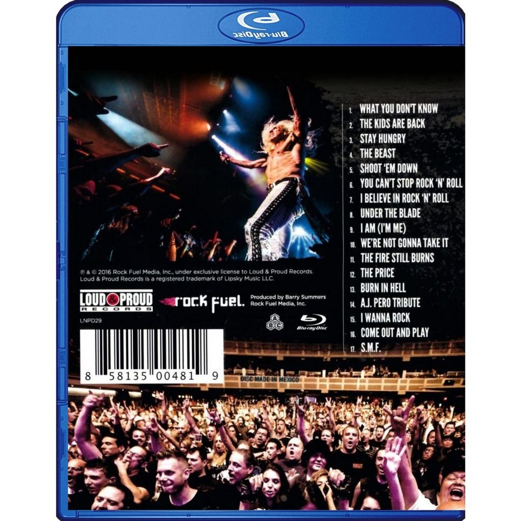 Twisted Sister Metal Meltdown Live From The Hard Rock Casino Las Vegas Blu-Ray Worldwide Free Shipping
