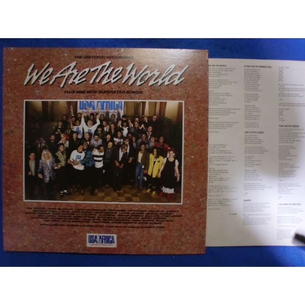 michael jackson / bruce springsteen / bob dylan / we are the world