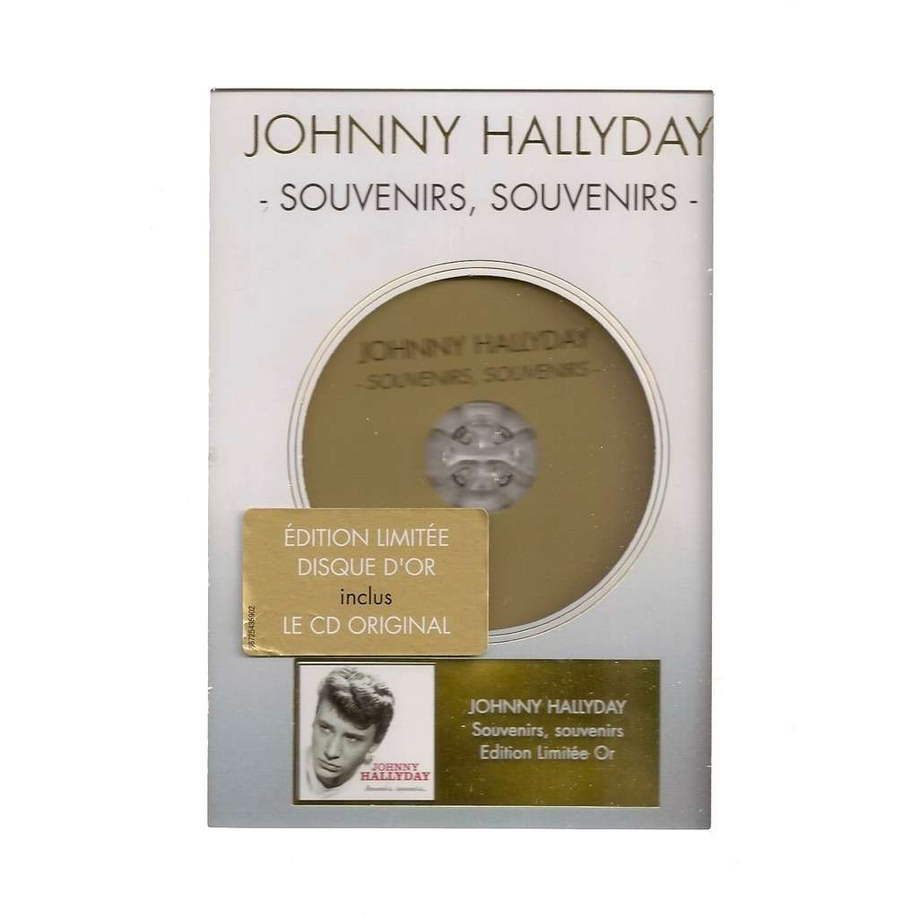 johnny hallyday disque d'or Souvenirs, souvenirs