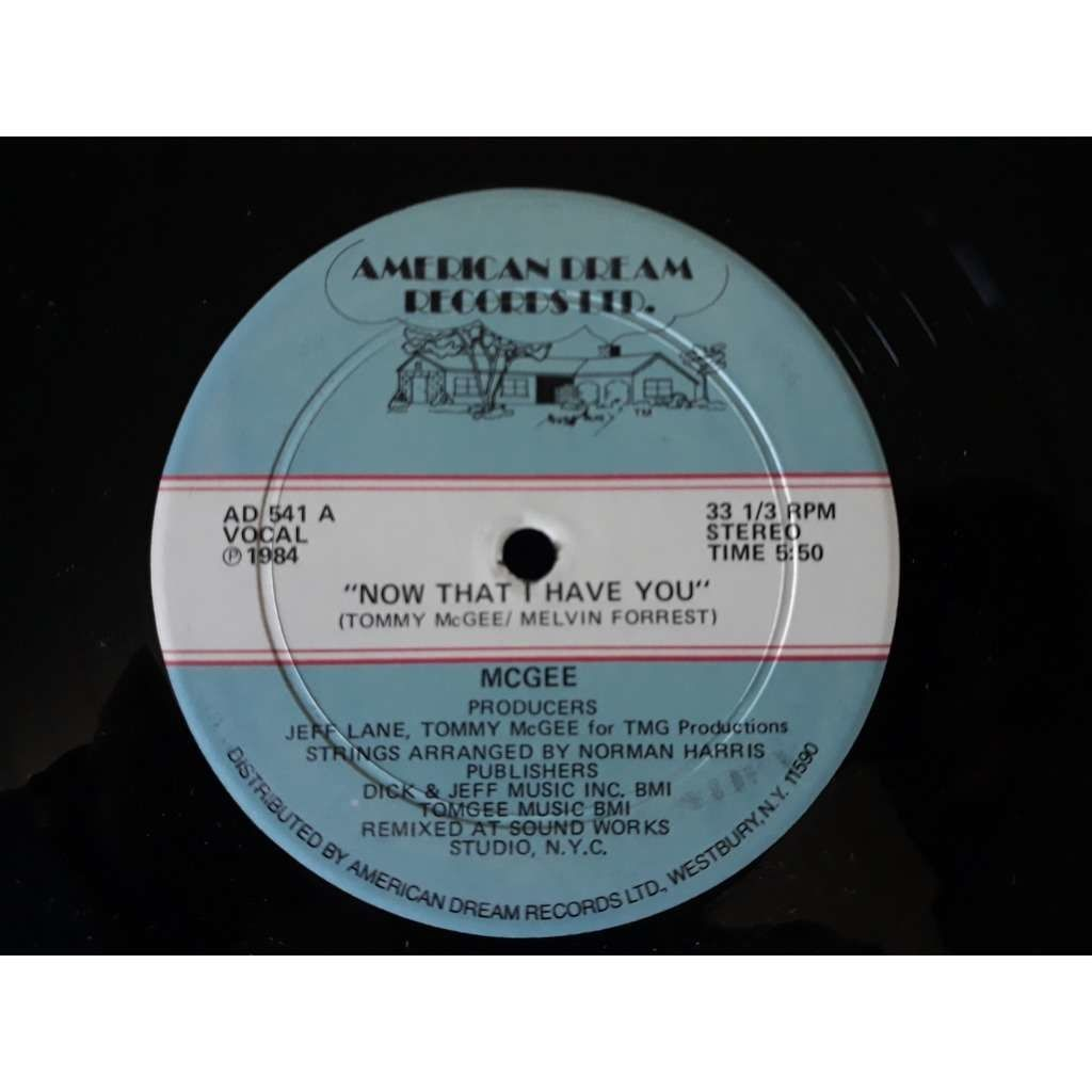 McGee* - Now That I Have You (12) McGee* - Now That I Have You (12)