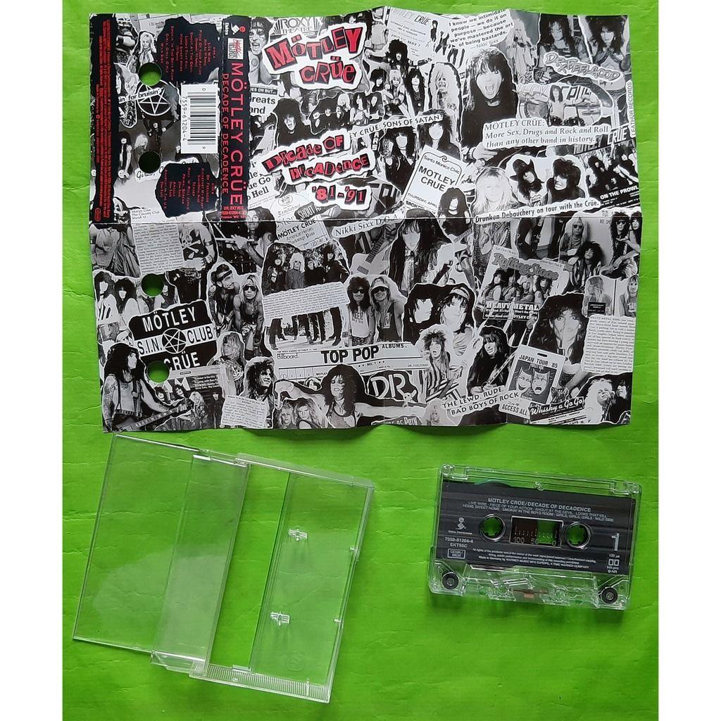 MOTLEY CRÜE DECADE OF DECADENCE-(Album cassette audio)(Remaster)(Original)(Elektra)(1991)(Germany)