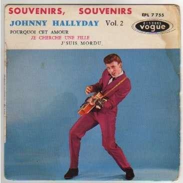 HALLYDAY JOHNNY SOUVENIRS, SOUVENIRS + 3 - CENTREUR - 2EME POCHETTE - (POCHETTE TACHEE)