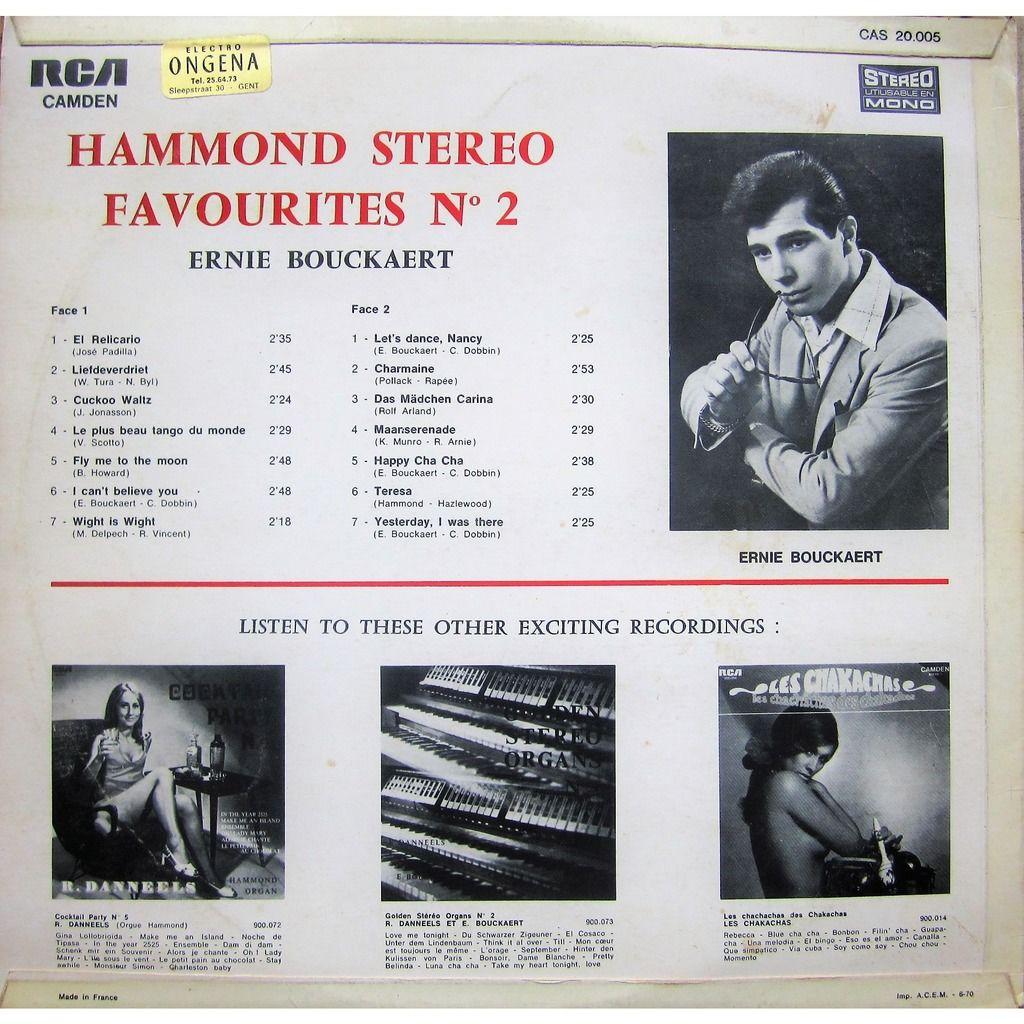 ernie bouckaert hammond stereo favourites N° 2
