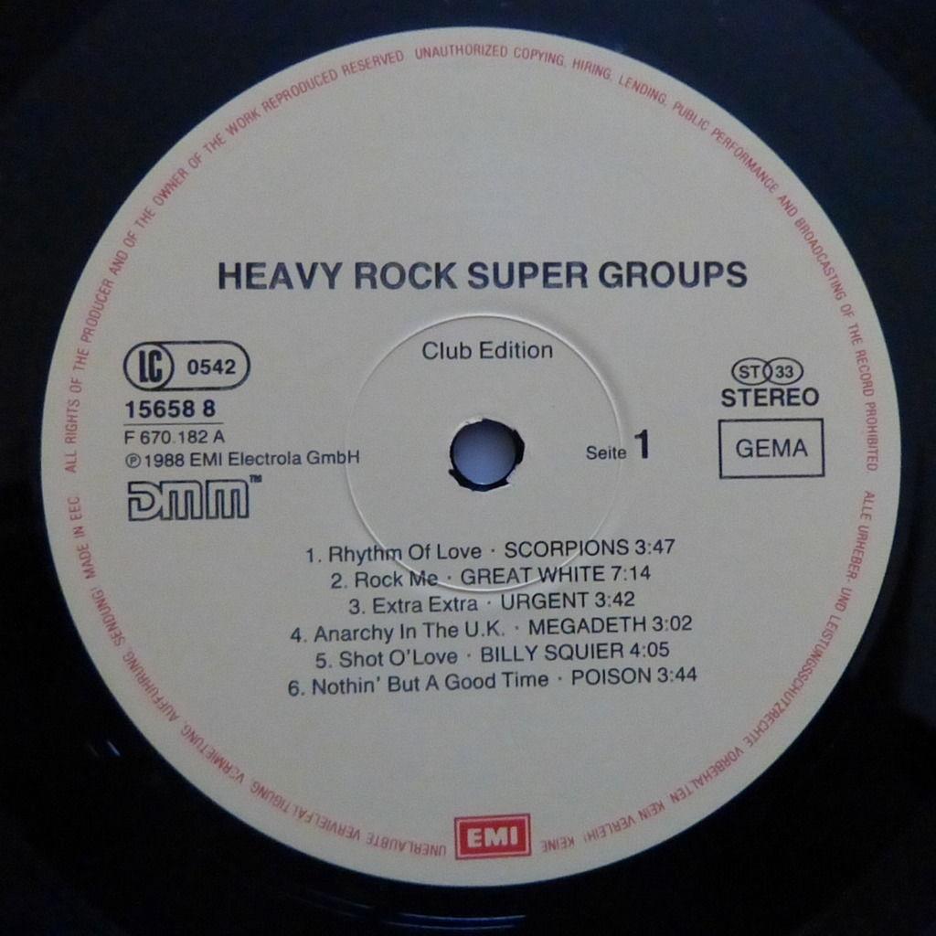VARIOUS ARTISTS HEAVY ROCK SUPER GROUPS