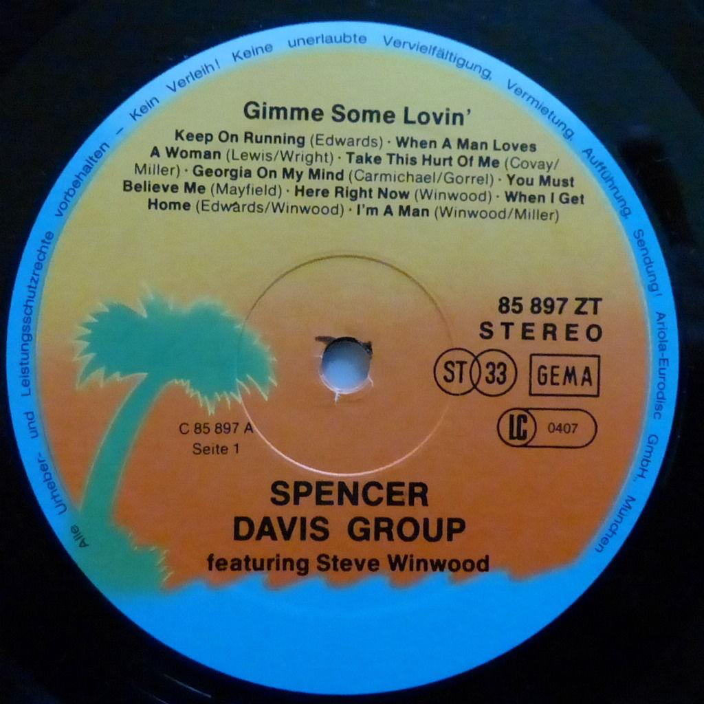 THE SPENCER DAVIS GROUP gimme some lovin'