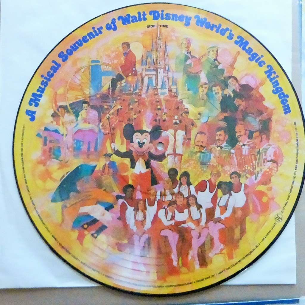 VARIOUS ARTISTS A MUSICAL SOUVENIR OF WALT DISNEY WORLD'S MAGIC KINGDOM - PICTURE DISC