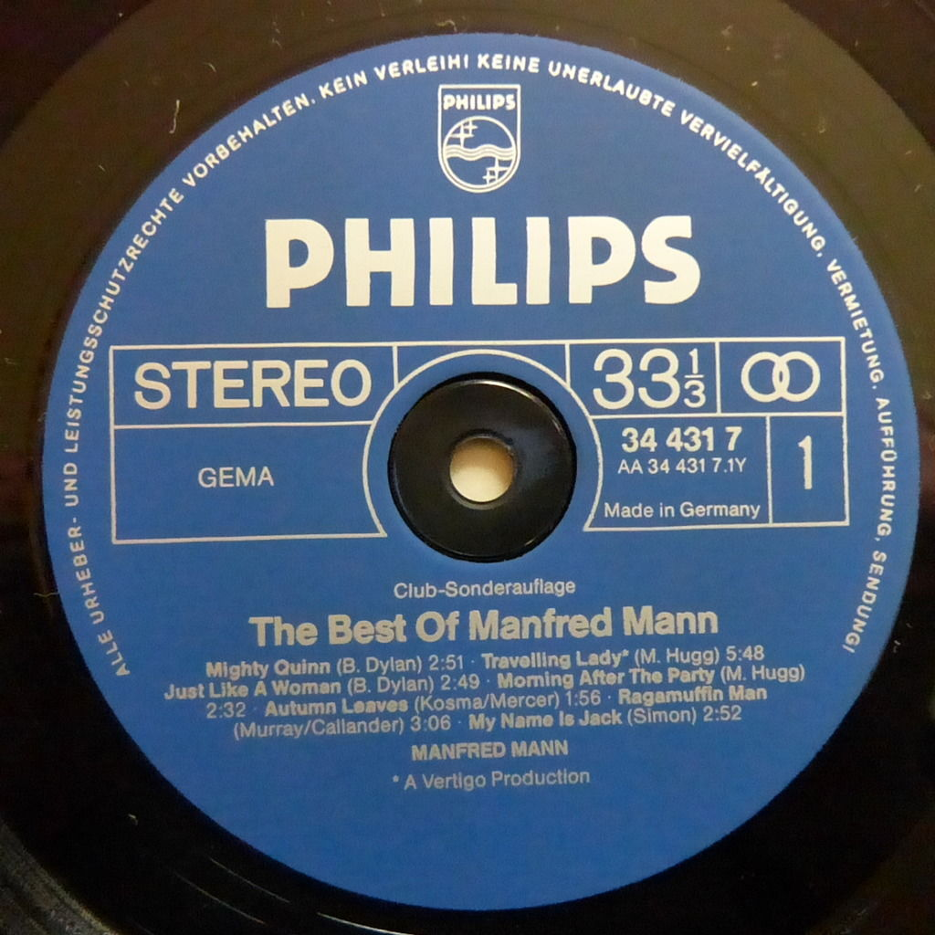 MANFRED MANN THE BEST OF