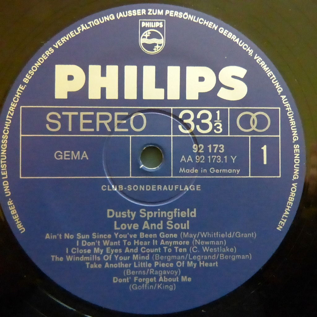 DUSTY SPRINGFIELD LOVE AND SOUL