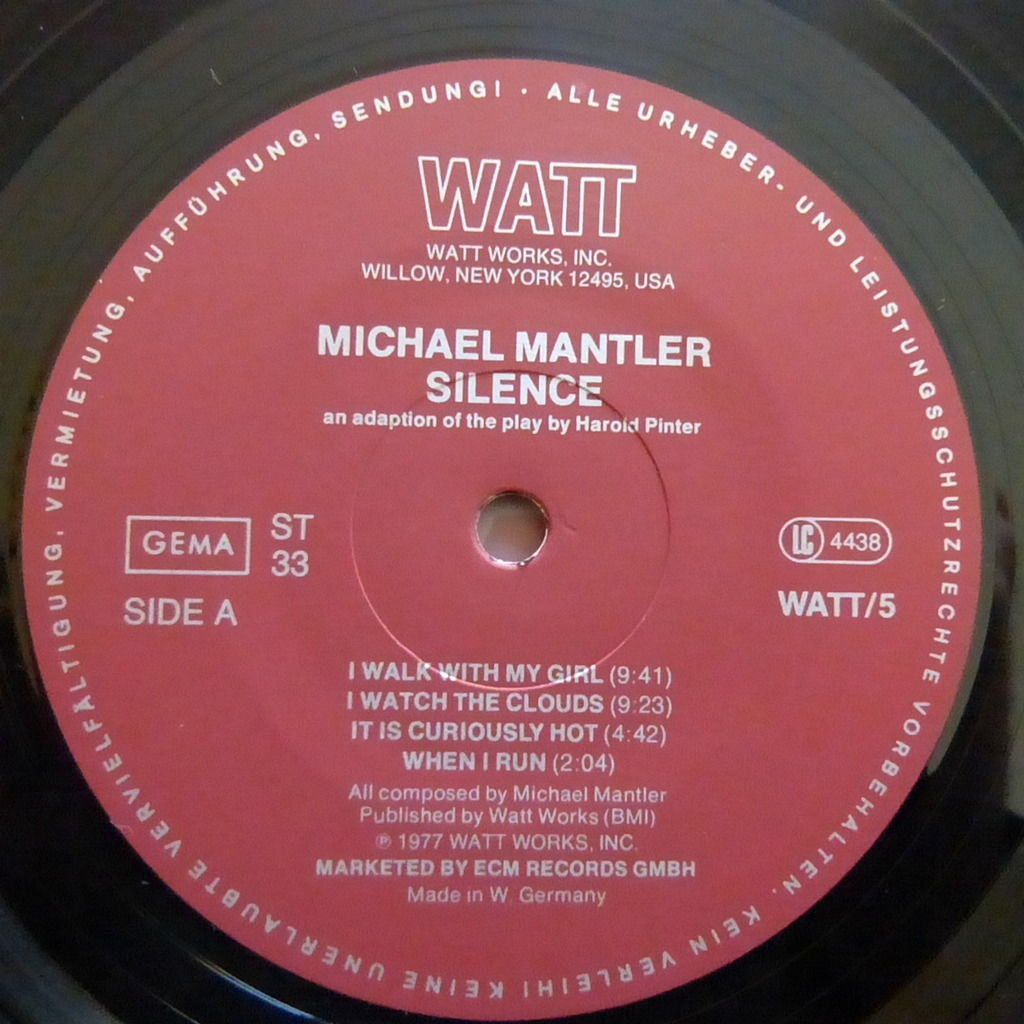 MICHAEL MANTLER SILENCE