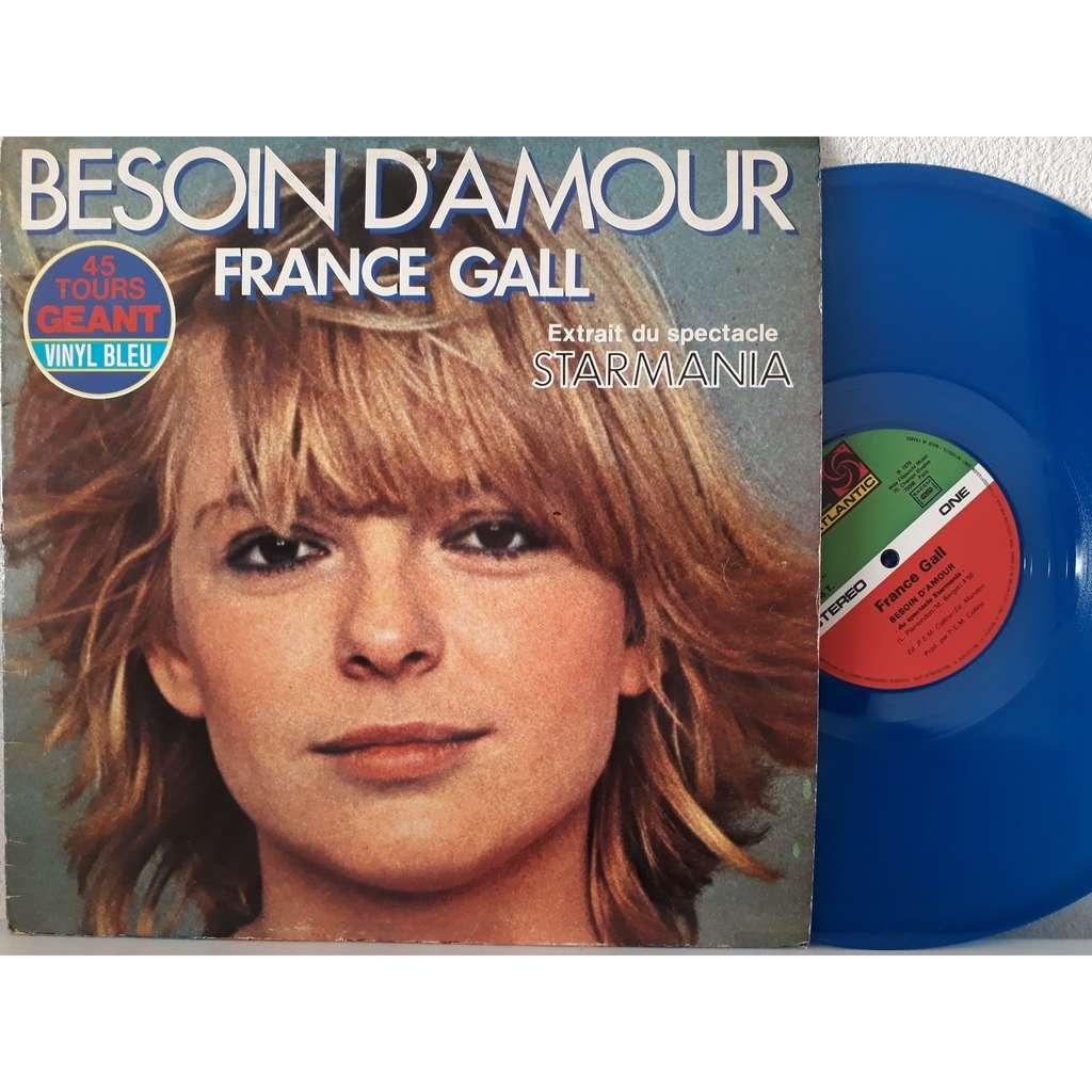 FRANCE GALL besoin d'amour (vinyl bleu) starmania
