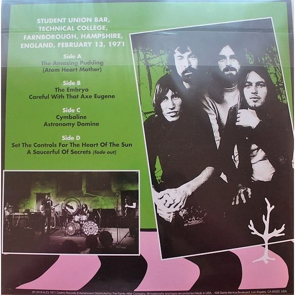 Pink Floyd Technical College 1971 (Technical College Farnborough UK 13.02.1971) (Ltd 200 copies 2LP PINK wax)