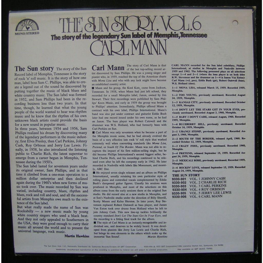 carl mann the sun story vol.6