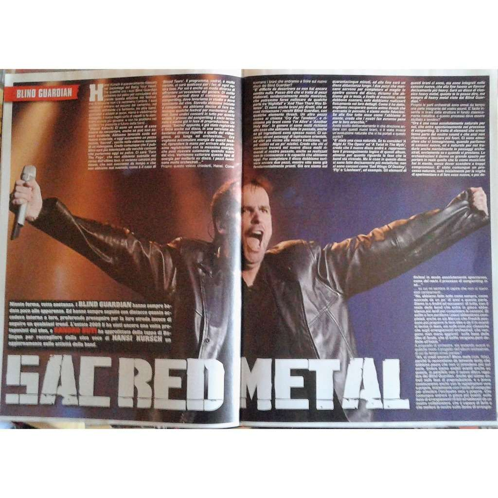 Blind Guardian Metal Maniac (N.9 Sept. 2009) (Italian 2009 music magazine!)