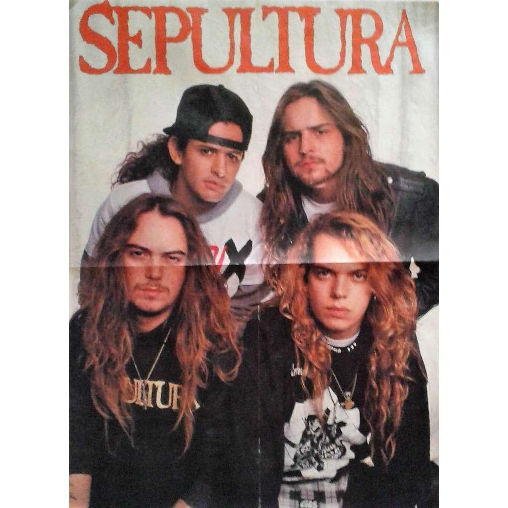 Sepultura Sepultura #1 (Italian 90s promo poster from Metal magazine!!)