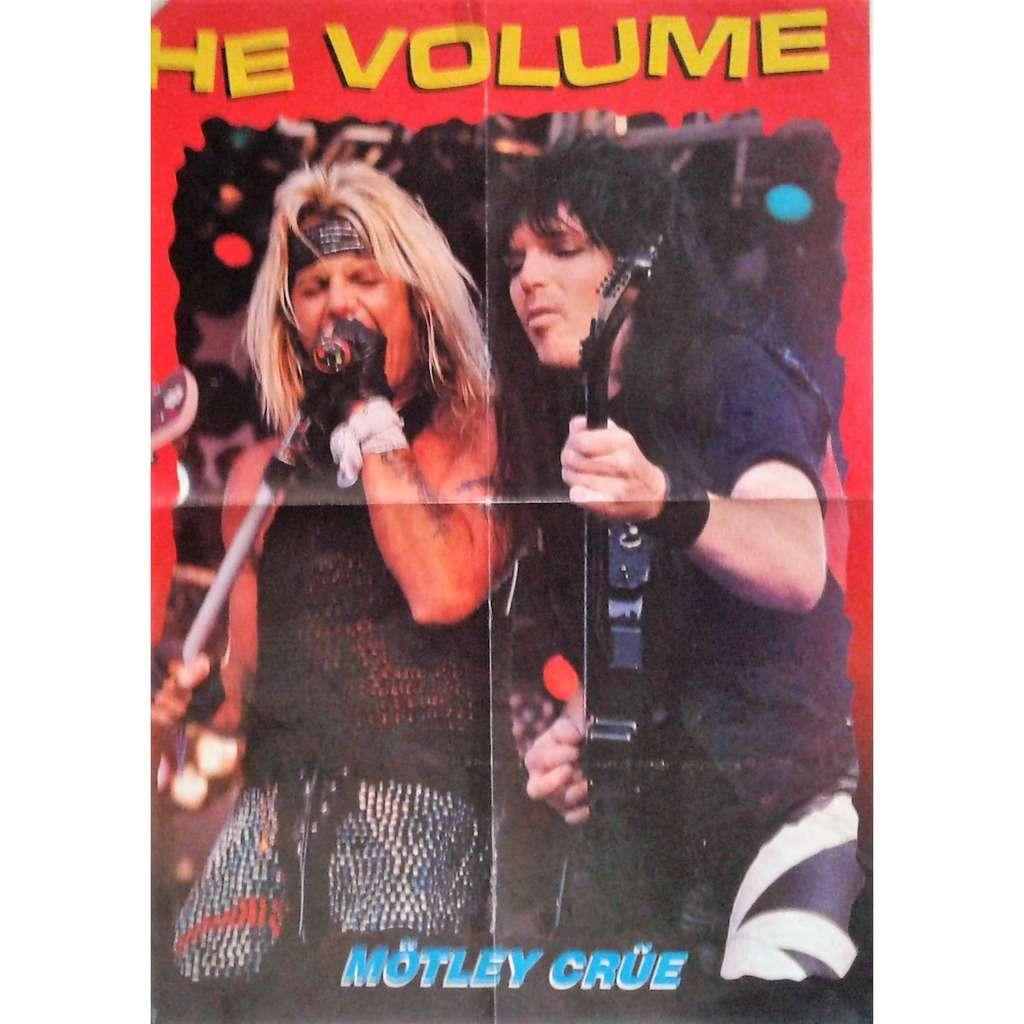 Motley Crue Motley Crue #1 (Italian 90s promo poster from Metal magazine!!)