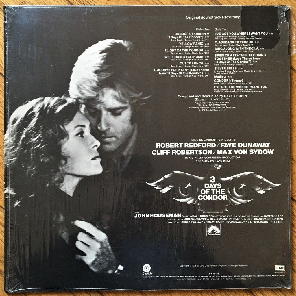 Dave Grusin 3 Days Of The Condor