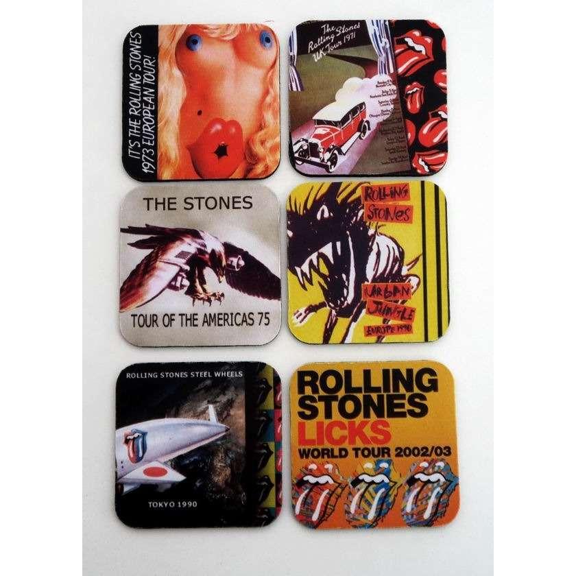 the rolling stones 6 sous-verre sous-bock coasters collector en mousse THE ROLLING STONES